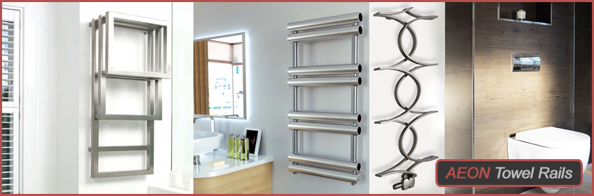 High Heat Output Stainless Steel Towel Rails